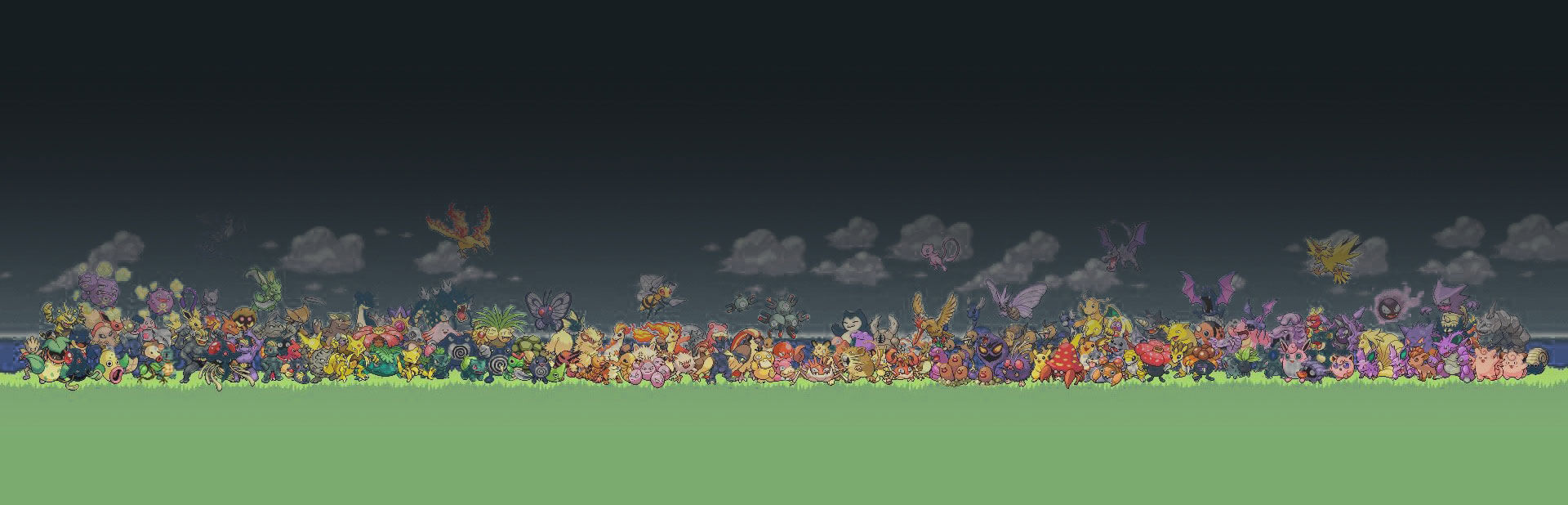 Pokemon Background Footer